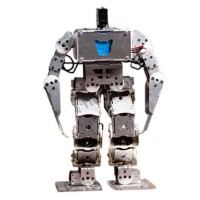 18 DOF Metal Biped Humanoid Robot Frame Kits 23cm w/ Bluetooth Module & Handle