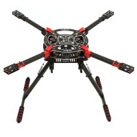 T800 Carbon Fiber Foldable Quadcopter Kit with Retractable Landing Skid for FPV
