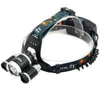 Boruit RJ5000 6000Lumens 3xCree XML T6 Headlamp Camping Headlight Cycling Lanterna LED