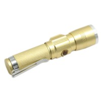 Golden 515 Mini Flashlight 5W XPE LED 600Lm Rechargeable Flashlight Torch w/ Charging Port