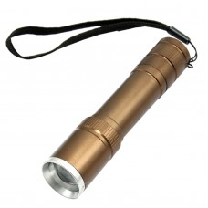 006T6 2017 T6 Brown Zoom Mini Flashlight Flashlight Torch Use Battery for Hiking Camping Outdoor Sports