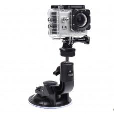 Mini Car Sucker w/ Screws & Adaptor for Gopro Hero 4 3+ 3 Xiaoyi SJ4000 Sports Camera Shooting