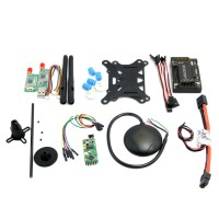 APM2.6 ArduPilot Flight Controller + Ublox 6M GPS w/ Compass+ PM+ 3DR 433Mhz Telemetry +OSD