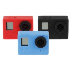 Silica Gel Cover Black/ Red/ Blue w/ Back Cover Protection Cover for Gopro Hero 3/ 3+