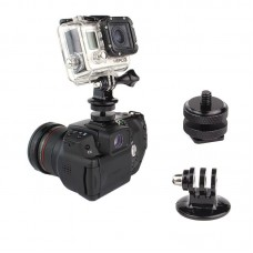 Triangle Adaptor + 1/4 Hot Shoe for Mini Gimbal Gopro Connecting with DSLR Camera