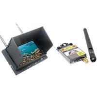 32Ch Dual Antenna FPV Diversity Monitor 5.8G 600mW Transmitter + Folding Sunhood