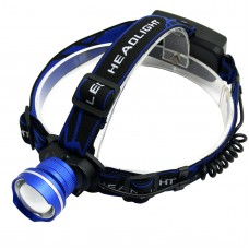 205 T6 Blue Strap Light High Power Headlamp for Hiking Fishing Outdoor Sports