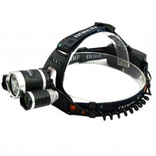 RJ3000 Purple Light High Power Headlamp for Hiking Fishing Outdoor Sports