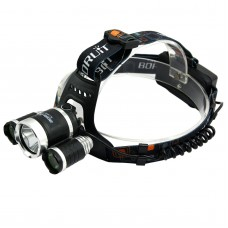 RJ3000 1xT6+XPE Three LED Light High Power Headlamp for Hiking Camping Fishing Outdoor Sports