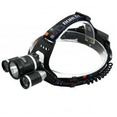 BORUIT RJ3001 3xT6 Three LED Lights High Power Headlamp for Hiking Fishing Outdoor Sports