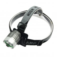 8.4V T6 Single LED Yellow Light High Power Headlamp for Hiking Camping Fishing Outdoor Sports