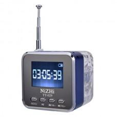NiZHi TT029 Portable USB Mini Speaker With FM Radio LCD Screen Micro SD USB Speaker Alarm Clock Different language 6Colors