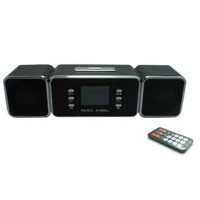 MUSIC ANGEL JH-MAUK9 Wireless Portable Remote Amplifier LCD Screen USB Powerful Bass Rechargeable Speaker