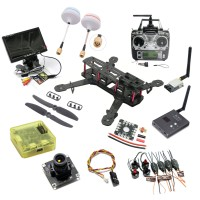 Carbon Fiber Full Set Mini QAV250 Quadcopter with 800TVL Camera & HD Monitor & 5.8G TX RX & T6 Transmitter