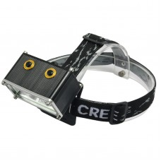 T05 4.2V Car Light Combo w/ Charger & Headlight Strap for Hiking Camping Outdoor Sports