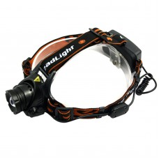 204 XQ51 Cable Switch Orange Strap High Power Headlamp Camping Headlight Cycling Lanterna LED