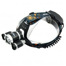 RJ5000 New 3600 Lumens 3 x T6 Head Lamp High Power LED Headlamp Torch Bike Riding Lamp For Camping Hunting