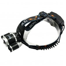 RJ5000 2400 Lumens T6+XPE Head Lamp White+Purple High Power LED Headlamp For Camping Hunting