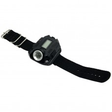 LKK-7007 Watch Flashlight Wrist Torch w/ Display & Charging Port for Hiking Camping Outdoor Sports