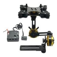 DYS 3 axis Brushless Gimbal Kit + Motor AlexMos BGC2.4 Controller Sony NEX ILDC
