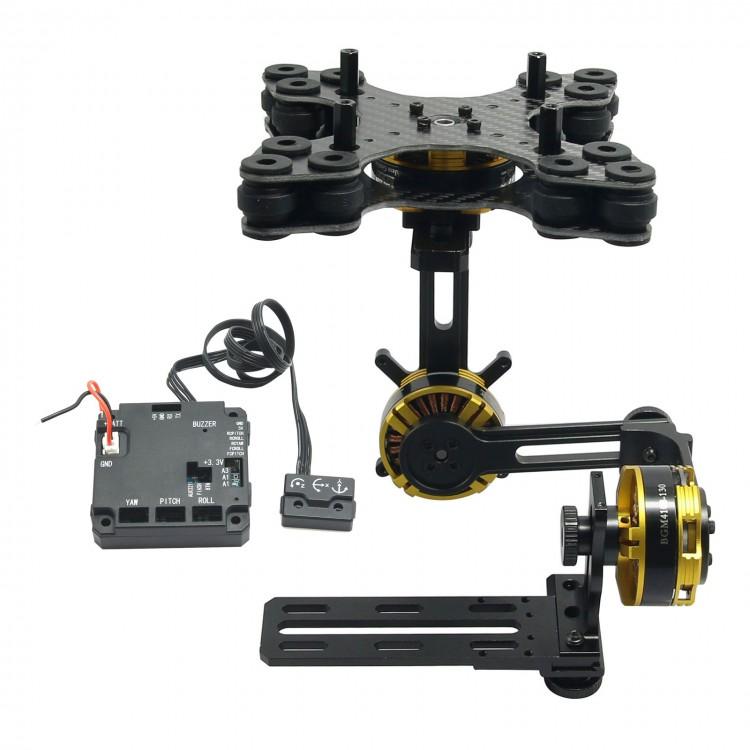 DYS 3 axis Brushless Gimbal Kit+Motor AlexMos BGC2.4 Controller f// Sony NEX ILDC
