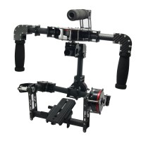 G10 3 Axis Brushless Handheld Gimbal Carbon Fiber Camera PTZ w/ 3pcs Motors Handle Camera Mount for Photography