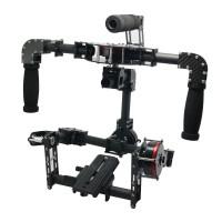 G10 3 Axis Brushless Handheld Gimbal Carbon Fiber Camera PTZ w/ 3pcs Motors Handle Camera Mount for Photography