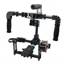 3 Axis Handle DSLR Carbon Fiber Brushless Gimbal Handle Camera Mount for Photography