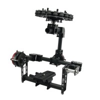 3 Axis DSLR Carbon Fiber Brushless Aerial Gimbal w/ 3pcs Motor for 5d GH3 GH4 Camera PFV Photography
