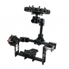 3 Axis DSLR Carbon Fiber Brushless Aerial Gimbal w/ Motor & 8 bit Controller for 5d GH3 GH4 Camera PFV Photography