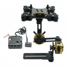 Aluminium Alloy Mini DSLR 3 Axis Brushless Gimbal with Motors and Controller for NEX5/6/7 FPV Photography