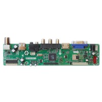 LCD Driving Board Universal TV Mainboard w/ HDMI Interface USB Upgrade Version