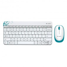 White Logitech MK240 Mini Wireless Keyboard and Mouse Combo With Receiver