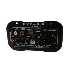 HYD.H5R Car Use Home Use Subwoofer Amplifier Board Large Power Plug in Card USB Remote Control 12V24V110V-265V Universal