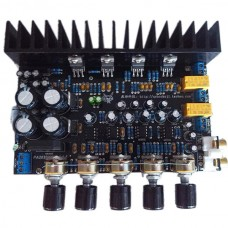 TDA2030A Amplifier Board 2.1 Channel w/ Bass Differential BTL Dual Tube Amp Assembled