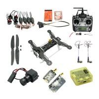 Tarot QAV250 Carbon Fiber Quadcopter TL250A with Emax Motor & ESC & 5.8G TX RX & CC3D Flight Controller & Camera & OSD Combo