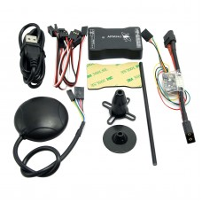New Mini APM PRO Flight Control with Ulbox Neo-6M GPS & Power Module & Data Cable for FPV Multicopter Aircraft