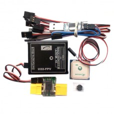 U22 Flight Control Mainboard + GPS + Current Meter + USB Upgrade Cable + Inductance + 6 Pairs Servo Cables
