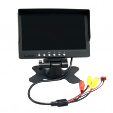 7 Inch Monitor Snowflake Screen + T Plug + Audio + 2CH Video w/ Sunshade Cover for Multicopter FPV Photography