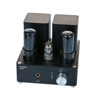 APPJ PA1502A Class A Tube Headphone Amplifier 6P6P 6N4 Tube Hifi Audio Amplifer Black