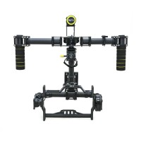 Handheld 3-axis CF FPV Brushless Gimbal Camera Mount PTZ w/ Alexmos Controller & Motor for 5D 7D Cameras