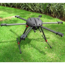 ATG-T2 X6 700mm UAV Drone Dual Arm Carbon Fiber Hexacopter AirCraft Frame with 10mm Mounting Tube