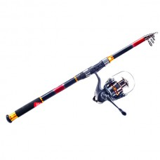 4 Axis Wheel + 2.1M Fishing Rod for Fishing w/ Accessories