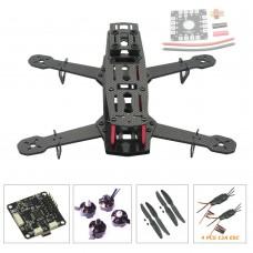 QVA250 Carbon Fiber 4 Axis Mini Quadcopter + CC3D Flight Controller & 2204 Motor & EMAX Simonk 12A ESC