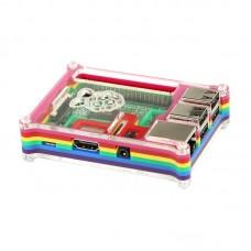 Raspberry Pi 2 Model B Multi Color Rainbow Acrylic Shell