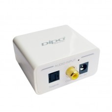 DIPO DA01 Digital Optical Coaxial Toslink Analog Audio Converter / with R/L RCA or 3.5 Aux Stereo Decoder