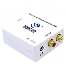 SC1405 HIFI 2.1 Audio Decoder Optical Fiber Coaxial Digital to Analog Convert