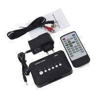 New Multi Media Center Player 720P HD Video AV YPbPr USB SD/MMC RM/RMVB/AVI/MPEG w/ Car Charger