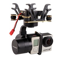 SteadyGo3 GoPro 3 Axis Brushless Gimbal for HERO 3 4 Aerial Stabilizer DJI Phantom Compatible
