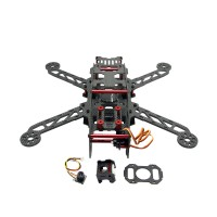 Full Carbon Fiber CNC QAV280 Quadcopter+Camera+Servo+Distribution Board for FPV Photography